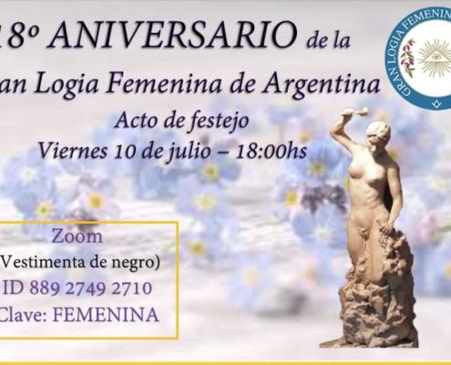 18º ANIVERSÁRIO DA GRANDE LOJA FEMININA DA ARGENTINA